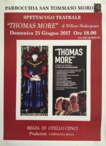 Locandina Spettacolo Teatrale 217x300 - San Tommaso Moro, la festa patronale tra arte e cultura