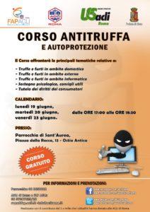 antitruffa Giugno 2017 Ostia Antica WEB 724x1024 212x300 - Acli Roma, corso antitruffa e autoprotezione alla Parrocchia di Sant'Aurea