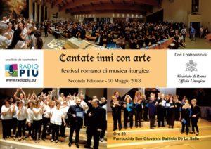 """Locandina 2018 300x212 - Cori parrocchiali, seconda edizione del Festival """"Cantate inni con arte"""""""
