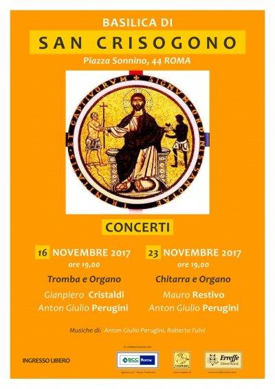 san crisogono 1 - San Crisogono: due concerti per tromba, chitarra classica e organo