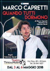 """marco capretti 2 214x300 - Marco Capretti presenta 'Quando tutti dormono': """"Chi meglio di un comico può raccontare i sogni?"""""""