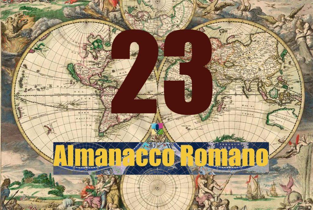 23 Almanacco Romano - radiopiu.eu