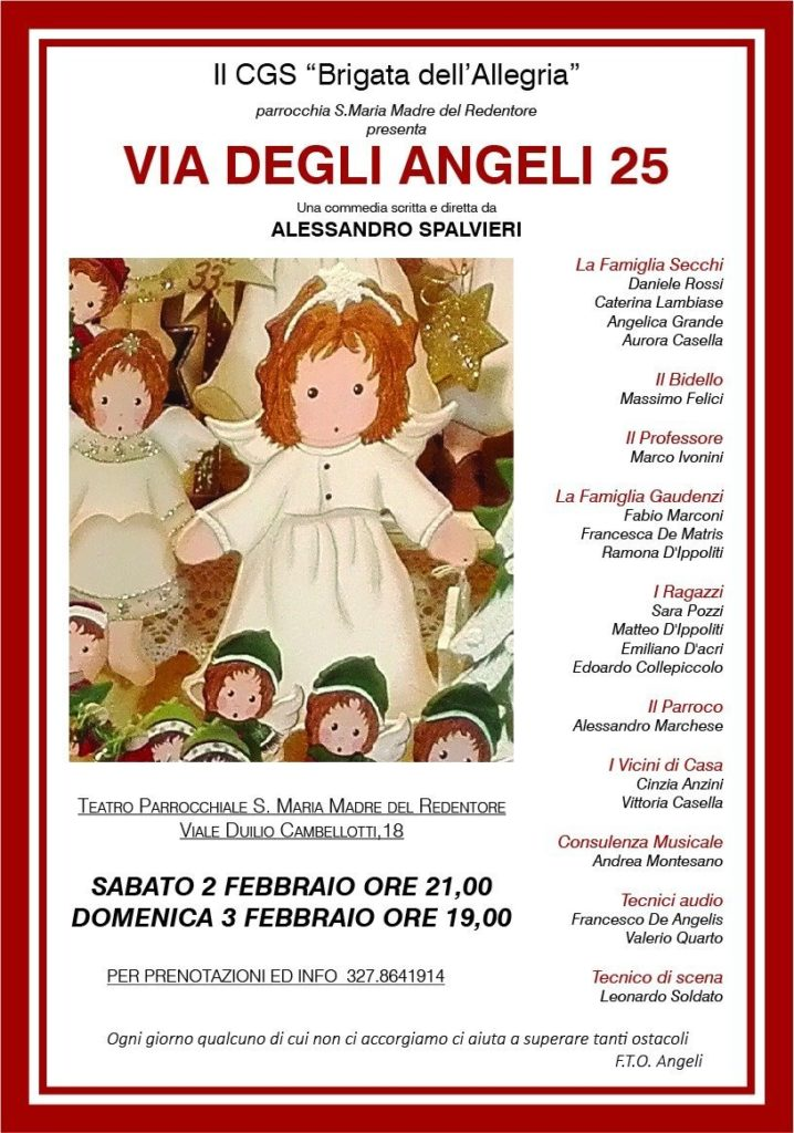 Via degli Angeli 25: a S.Maria Madre del Redentore in scena la quotidianità 2