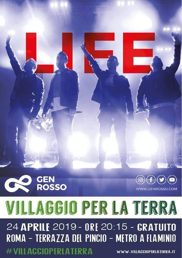 Gen Rosso, il 24 aprile Life Tour <br>al Villaggio per la Terra 1