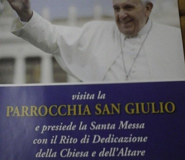 """S.Giulio aspetta Francesco. Il parroco: """"Ho lo stesso sogno del Papa"""" 2"""