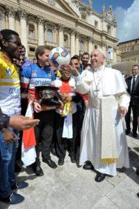 clericus cup, papa francesco