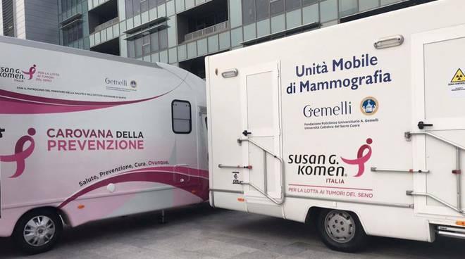 race for the cure, carovana della prevenzione