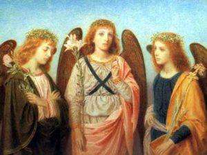 almanacco romano, santi arcangeli michele gabriele raffaele