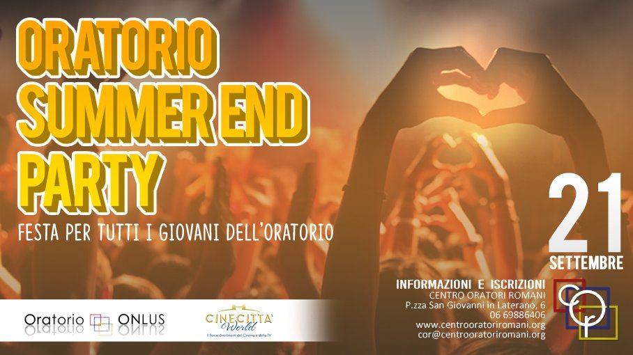centro oratori romani, oratorio summer end party