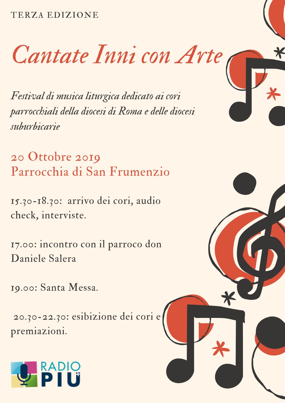 parrocchie di roma, cantate inni con arte