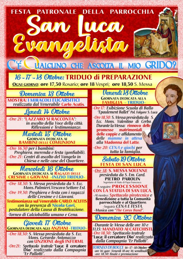parrocchie di roma, san luca evangelista