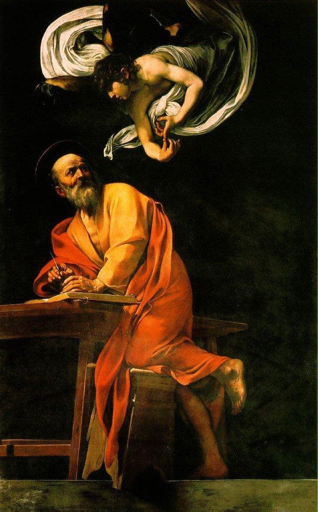 la madonna dei parafrenieri, san matteo e l'angelo