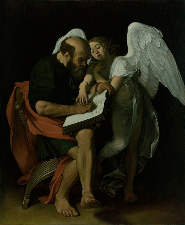 la madonna dei parafranieri, san matteo e l'angelo