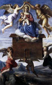 Madonna dei Pellegrini, madonna di loreto, annibale carracci