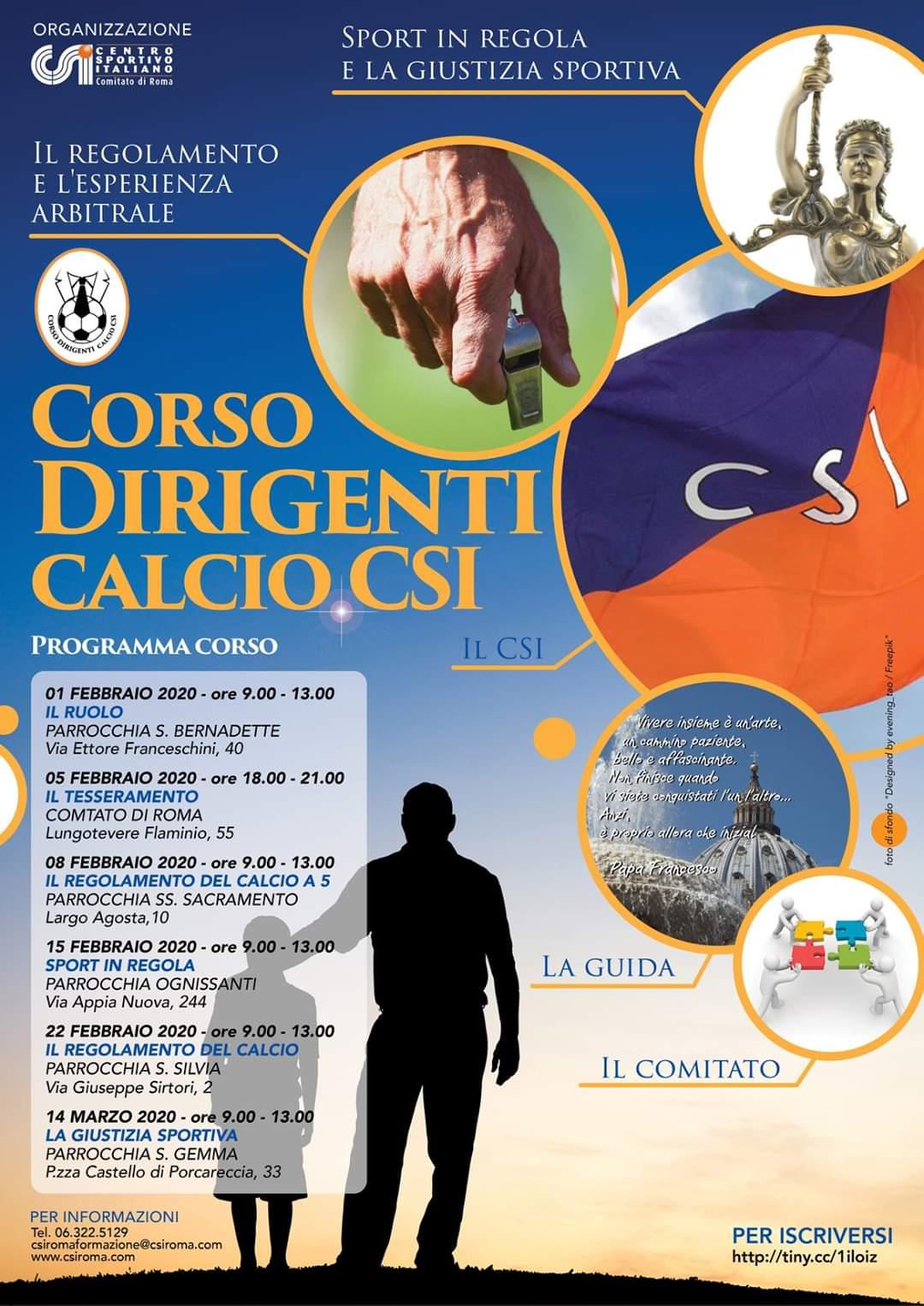 CSI Roma, corso dirigenti calcio
